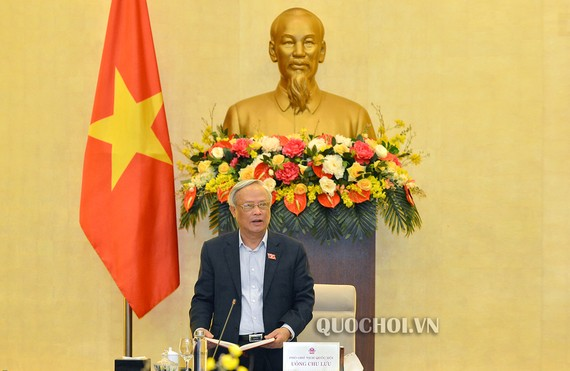 Phó Chủ tịch Quốc hội Uông Chu Lưu phát biểu tại phiên họp