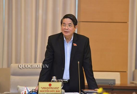 Chủ nhiệm Ủy ban Tài chính - Ngân sách của Quốc hội Nguyễn Đức Hải