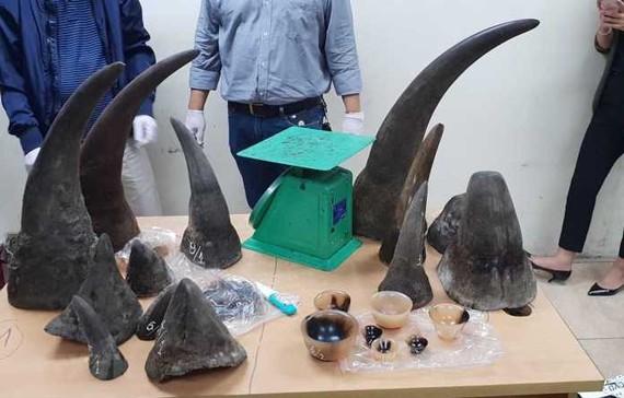 Một lô hàng sừng tê giác bị cơ quan chức năng bắt giữ