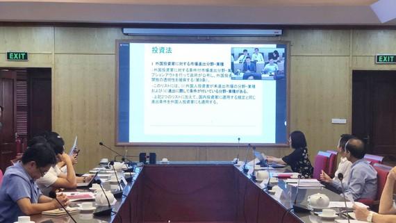Quang cảnh Hội nghị tại điểm cầu cầu Bộ Kế hoạch và Đầu tư