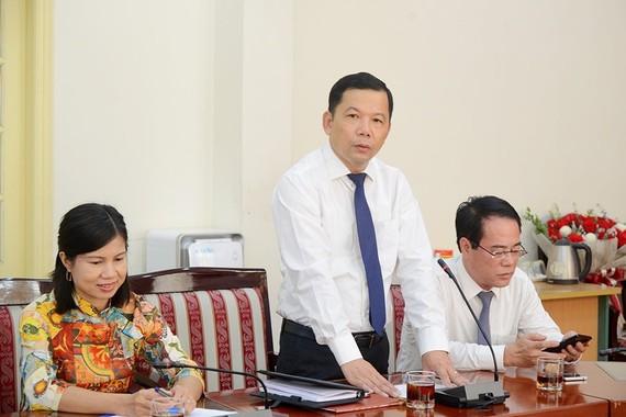 Phó Tổng cục trưởng Tổng cục Biển và Hải đảo Việt Nam Trương Đức Trí phát biểu nhận nhiệm vụ