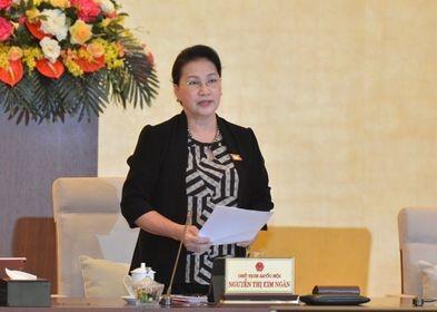 Chủ tịch Quốc hội Nguyễn Thị Kim Ngân chủ trì phiên họp thứ 48 của Uỷ ban Thường vụ Quốc hội