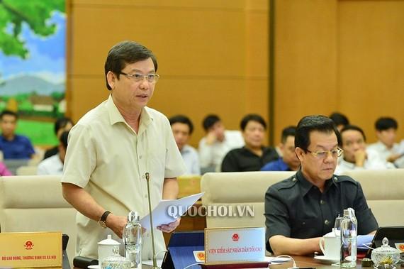 Viện trưởng Viện Kiểm sát Nhân dân Tối cao Lê Minh Trí. Ảnh: QUOCHOI