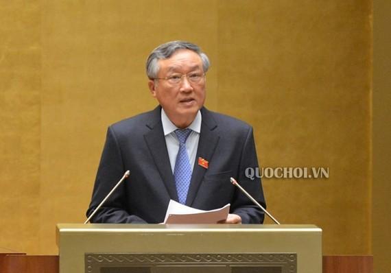 Chánh án Tòa án Nhân dân tối cao Nguyễn Hòa Bình. Ảnh: QUOCHOI.VN