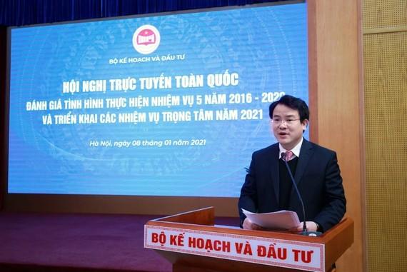 Thứ trưởng Bộ Kế hoạch và Đầu tư Trần Quốc Phương phát biểu