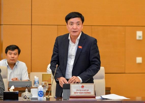 Tổng Thư ký Quốc hội Bùi Văn Cường báo cáo Ủy ban Thường vụ Quốc hội về việc chuẩn bị cho kỳ họp thứ nhất, Quốc hội khoá XV