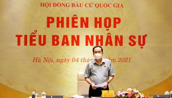 Phó Chủ tịch Thường trực Quốc hội Trần Thanh Mẫn chủ trì họp phiên thứ ba của Tiểu ban Nhân sự