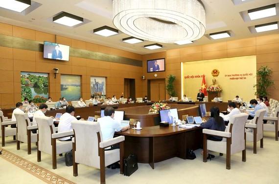 Quang cảnh phiên họp thứ 58 của Ủy ban Thường vụ Quốc hội