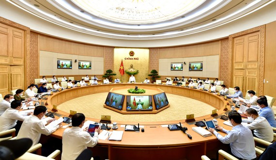 Một phiên họp của Chính phủ