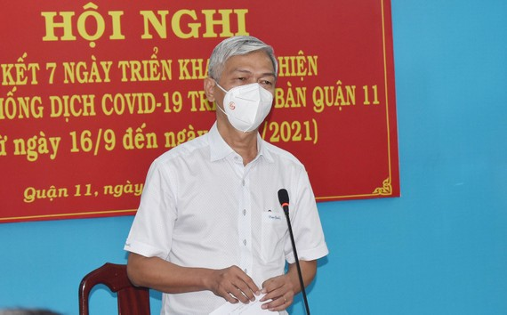 Phó Chủ tịch UBND TPHCM Võ Văn Hoan phát biểu tại hội nghị