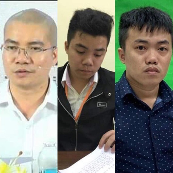 Nguyễn Thái Luyện - Nguyễn Thái Lĩnh - Nguyễn Thái Lực (từ trái qua phải)