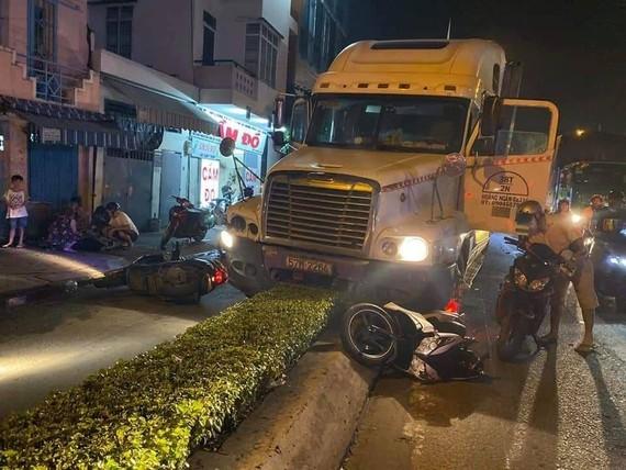 Khởi tố, bắt tạm giam tài xế container sử dụng ma tuý gây tai nạn khiến 2 người thương vong. Ảnh: C.T