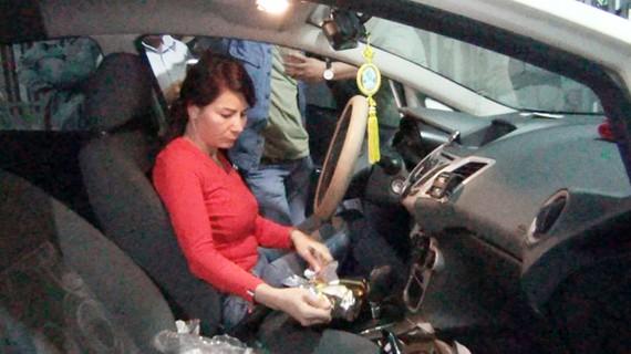 Trần Thị Thùy lúc bị cơ quan chức năng bắt giữ