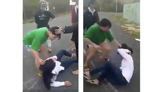 Hình ảnh vụ việc (Ảnh cắt từ clip)