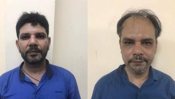 2 tên tội phạm nước ngoài vờ mua hàng để cướp giật tài sản.Ảnh: C.T