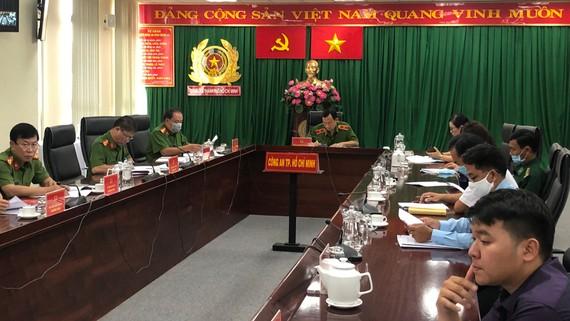 Lãnh đạo Công an TPHCM họp hội nghị trực tuyến tổng kết Dự án 4