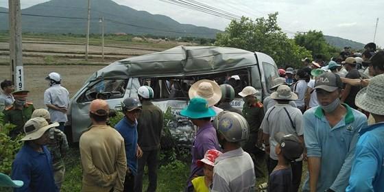 Vụ tai nạn đường sắt ngày 31-7 tại Bình Thuận làm 3 người trên xe khách chết tại chỗ