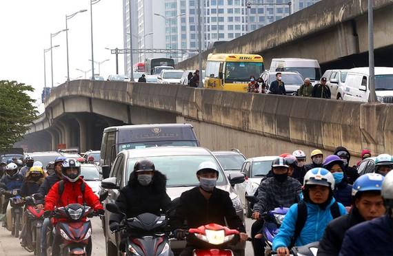 Đường Vành đai 3 Hà Nội có mật độ phương tiện cao