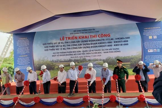 Lễ khởi công 3 gói thầu cao tốc Mai Sơn - QL45