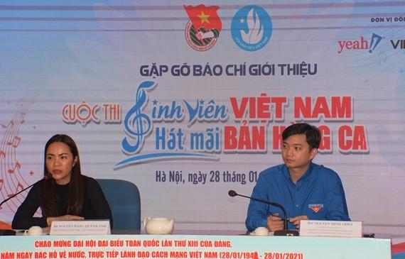 """Họp báo công bố cuộc thi """"Sinh viên Việt Nam - hát mãi bản hùng ca"""""""