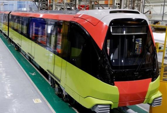 Đoàn tàu đường sắt đô thị Nhổn- ga Hà Nội