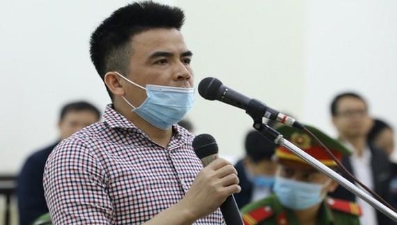 Bị cáo Trần Anh Quang tại tòa.