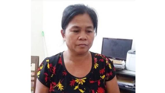 Mong Thị Hà tại cơ quan công an.