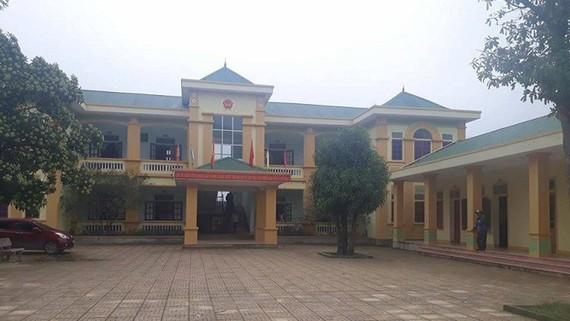 Trụ sở xã Nghi Quang - nơi xảy ra vụ việc