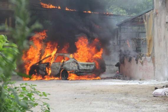 Hiện trường vụ cháy. ảnh: D.Q