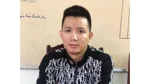 Lê Văn Thảo tại cơ quan công an.