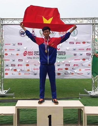 越南運動員高武玉龍。(圖片來源:NVCC)