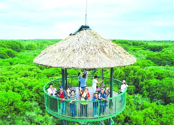 芹耶生態區遊吸引許多國內遊客參加。