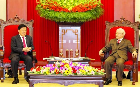 黨中央總書記、國家主席阮富仲接見中國國務委員、公安部長趙克志。