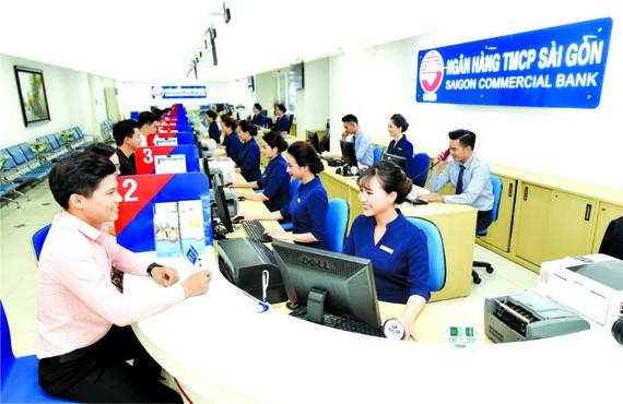 西貢銀行為客戶服務。