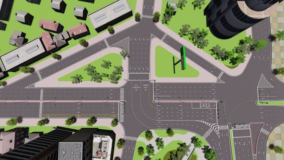 Sơ đồ bố trí tuyến đường một chiều