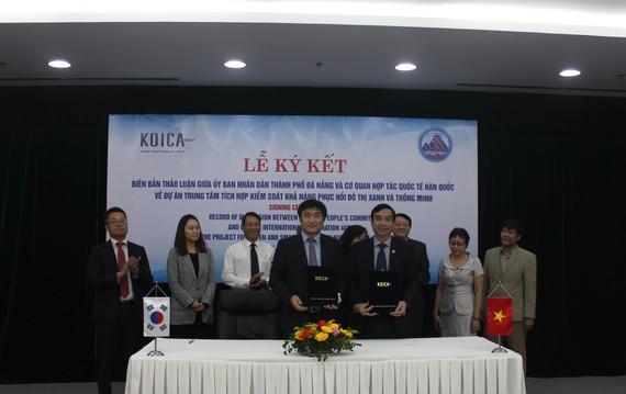 UBND TP Đà Nẵng cùng đại diện Cơ quan Hợp tác Quốc tế Hàn Quốc (KOICA) ký kết biên bản thảo luận về dự án