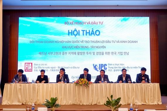 Đối thoại doanh nghiệp Hàn Quốc về tạo thuận lợi đầu tư kinh doanh khu vực miền Trung- Tây Nguyên