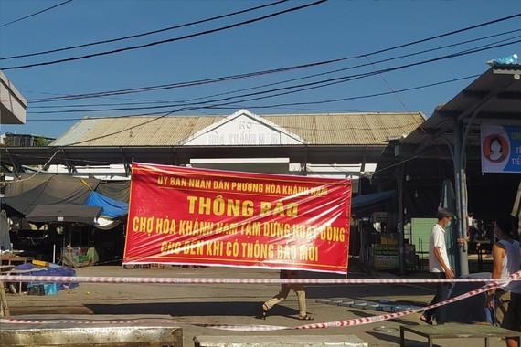 Chợ Hòa Khánh Nam đã tạm dừng hoat động