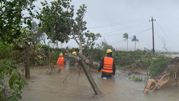 Khắc phục lưới điện tỉnh Quảng Ngãi