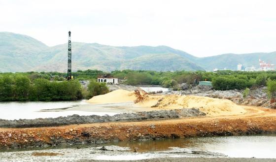 Mảng xanh nằm bên TP Quy Nhơn đang bị băm nát