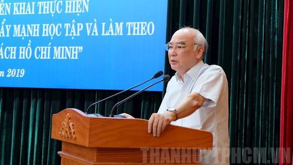 Trưởng Ban Tuyên giáo Thành ủy Phan Nguyễn Như Khuê phát biểu tại hội nghị. Ảnh: thanhuytphcm