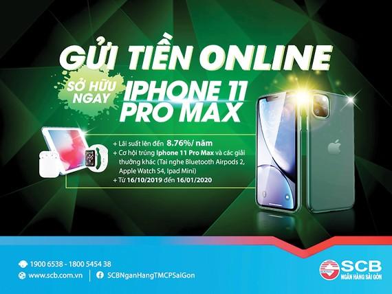 """SCB ra mắt chương trình khuyến mãi """"Gửi tiền online - sở hữu ngay iPhone 11 Pro Max"""""""