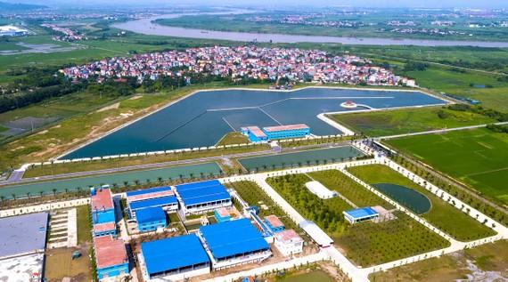 Tổng thể nhà máy nước mặt Sông Đuống