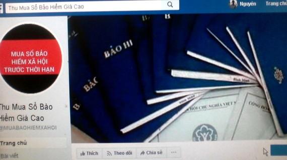 Trang mạng rao thu mua sổ BHXH giá cao
