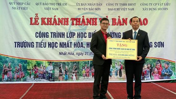 Dai-ichi Việt Nam bàn giao hệ thống nước sạch