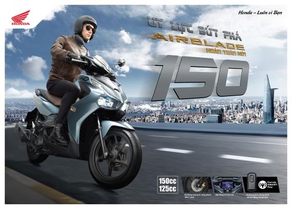 Honda Việt Nam giới thiệu phiên bản hoàn toàn mới Honda Air Blade 150cc/125cc: Uy lực bứt phá