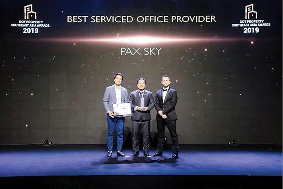 Pax Sky đoạt giải Nhà cung cấp dịch vụ văn phòng tốt nhất Đông Nam Á 2019