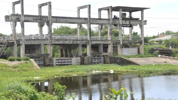 Công trình thủy lợi thích ứng biến đổi khí hậu  tại huyện Cần Giuộc (tỉnh Long An)