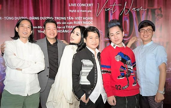 """Các nghệ sĩ trong chương trình """"Việt Nam Love Story"""""""