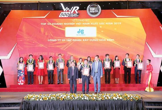 Hòa Bình: Tốp 50 doanh nghiệp Việt Nam xuất sắc hai năm liên tiếp